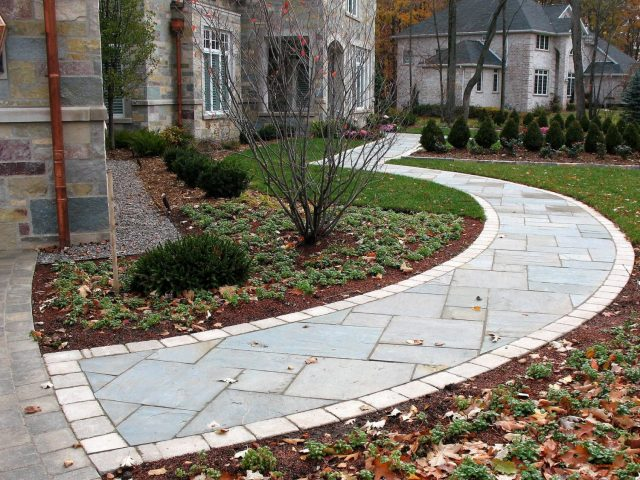 Natural stone walkway and entrance in Green Bay