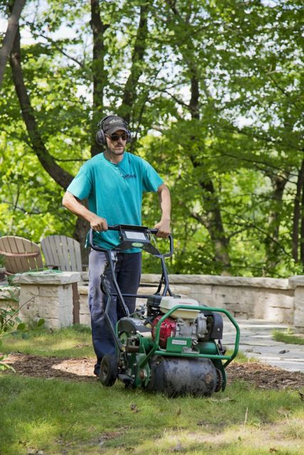 Lawn Aeration as part of Lawn Care in Appleton