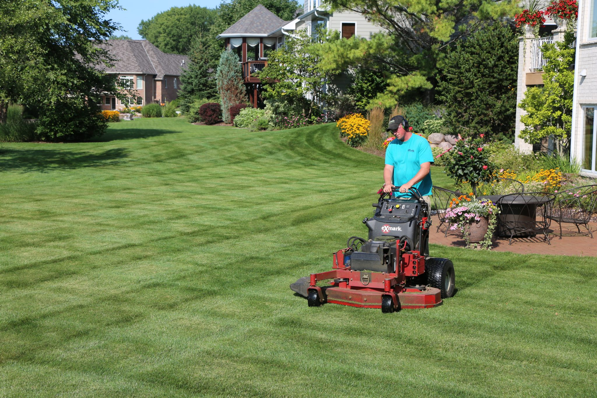 Lawn care for client in Suamico