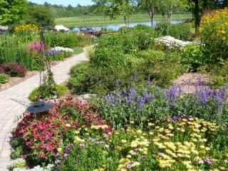 Season Color added to a Landscape Planting in Pestigo