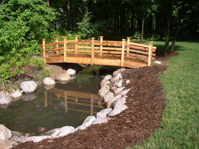 Custom Wood Bridge in Green Bay