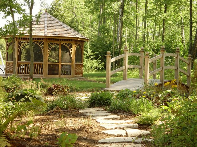 Custom Gazebo and Bridge in Suamico