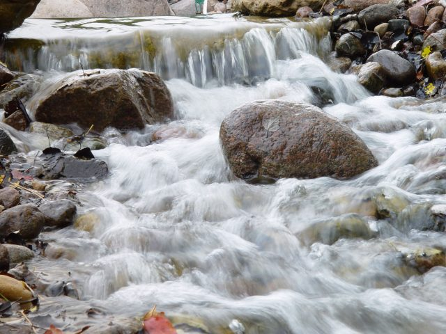 Stream and Waterfall in Landscaping in Green Bay