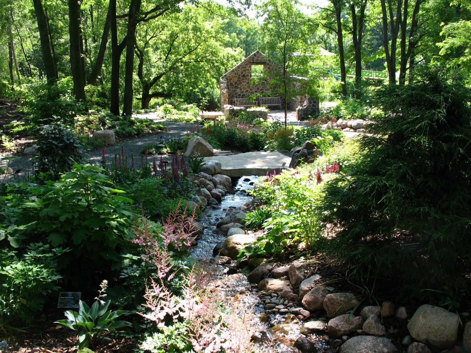 Stream in a Garden at Green Bay Botanical Gardens