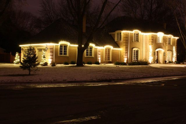 Holiday lighting for residential client in Green Bay