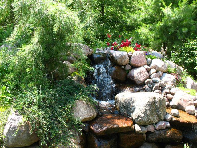 Waterfall in a Landscape in Green Bay