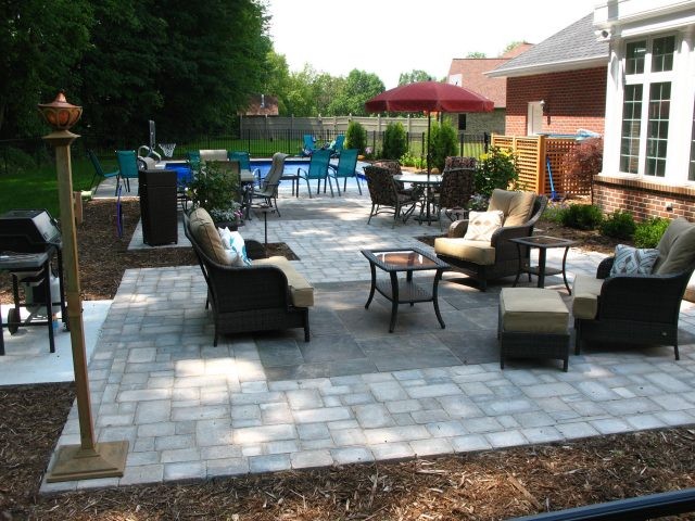 Paver Patio around a Pool in Green Bay