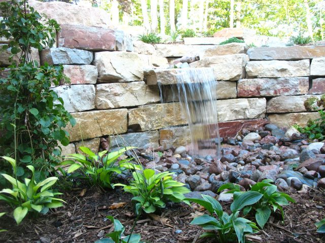 Pondless Waterfall in a Landscape in Appleton