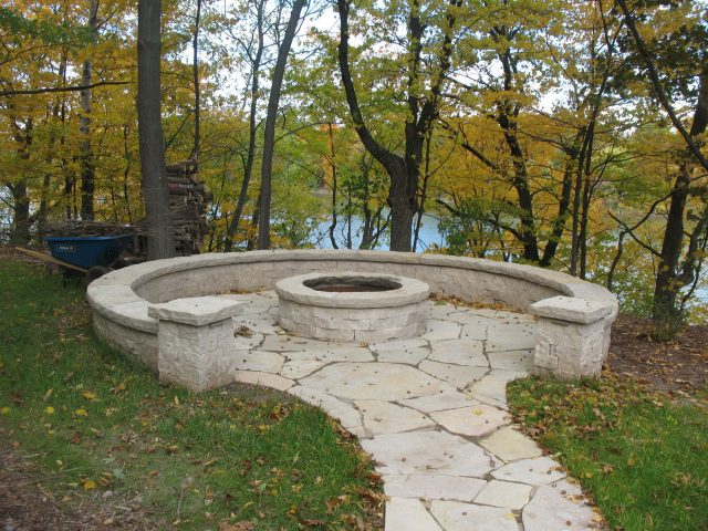 Natural Stone Fire Pit in Appleton