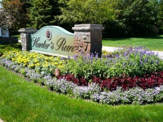 Season Color added to the Entrance for a Home Owner's Association