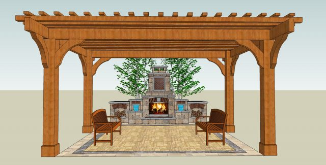3D Landscape Design for Client in Green Bay