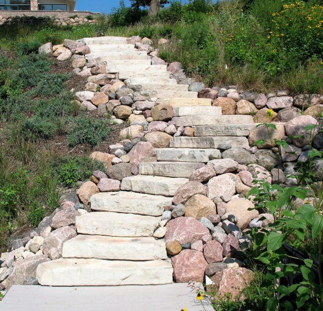 Natural Stone Steps in De Pere