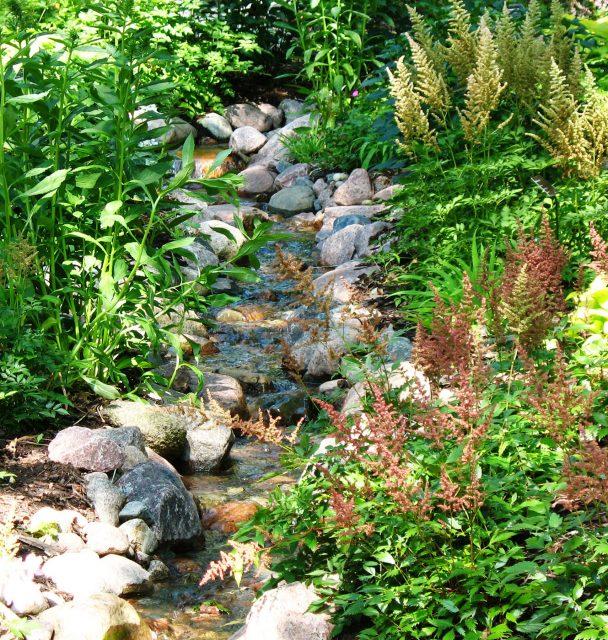 Stream in a Landscape in Green Bay