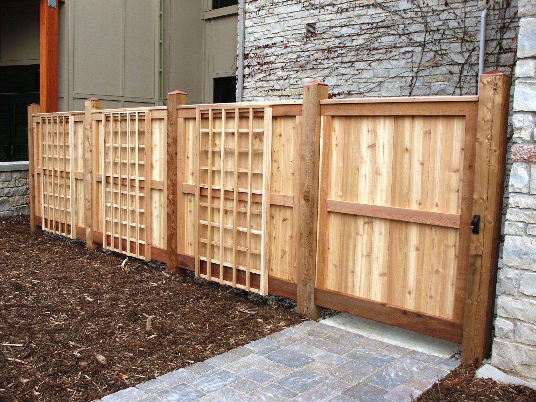 Custom Fence at Green Bay Botanical Gardens