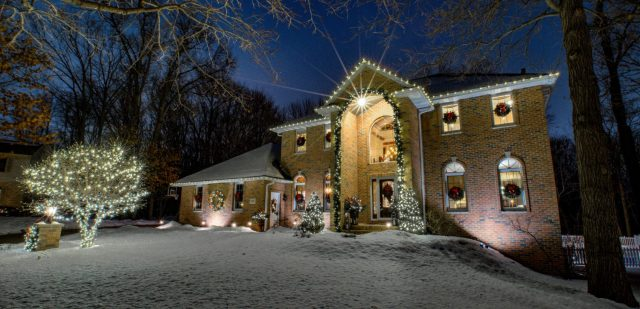 Holiday Lighting for beautiful home in Green Bay