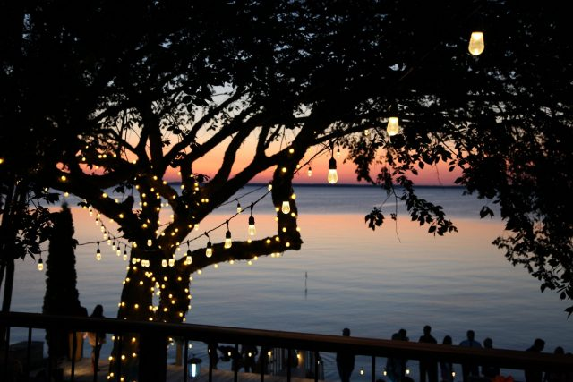 Holiday Lighting in Green Bay for a wedding